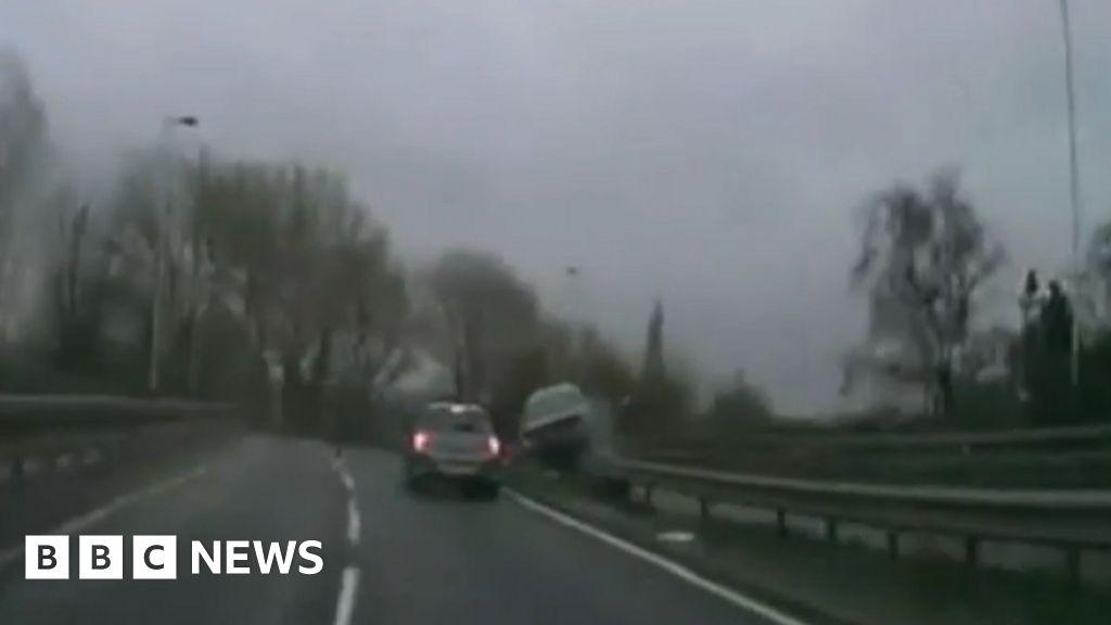 dashcam captures car flipping over in southampton crash. Black Bedroom Furniture Sets. Home Design Ideas