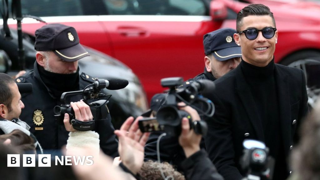 Ronaldo in court for tax evasion charge