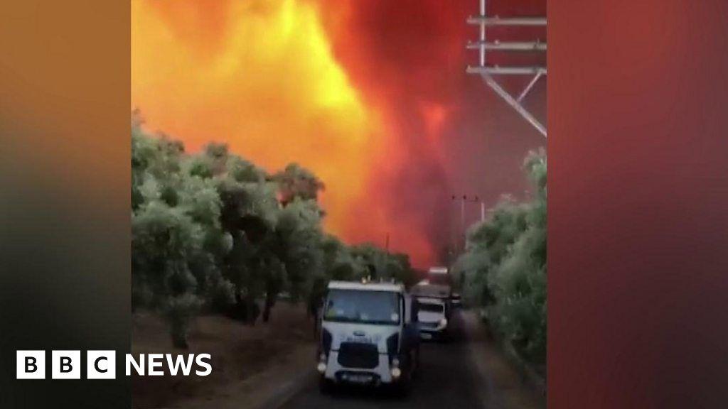 Turkey: People flee popular tourist spots to escape wildfires