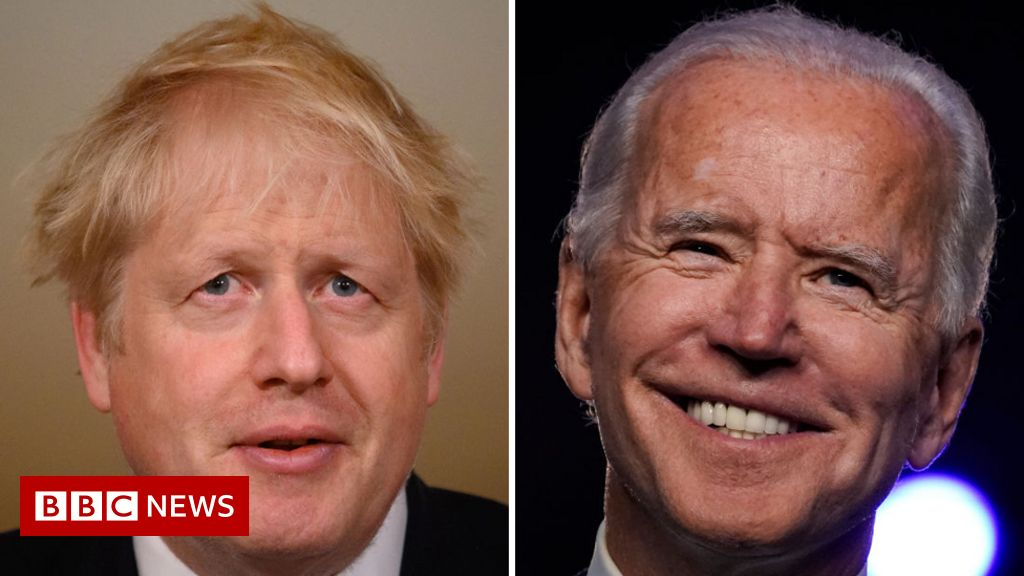 Boris Johnson congratulates Joe Biden on US election win