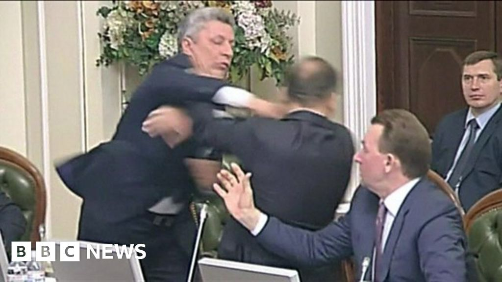 Ukraine MPs throw punches