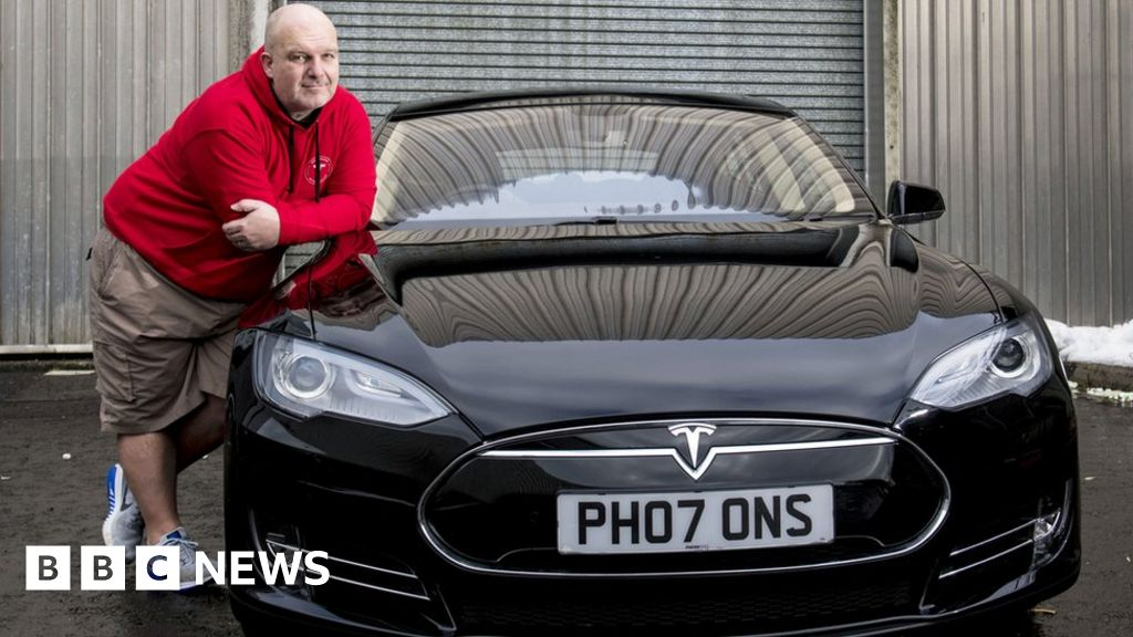 Businessman gifts Tesla electric car to Riverside Museum