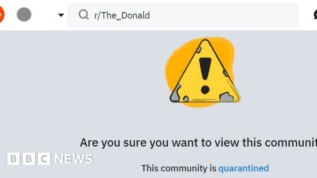 Reddit places pro-Donald-Trump forum in quarantine - BBC News