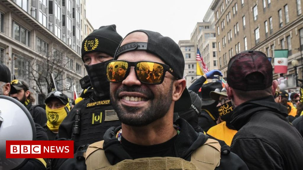 Proud Boys leader held for burning Black Lives Matter flag