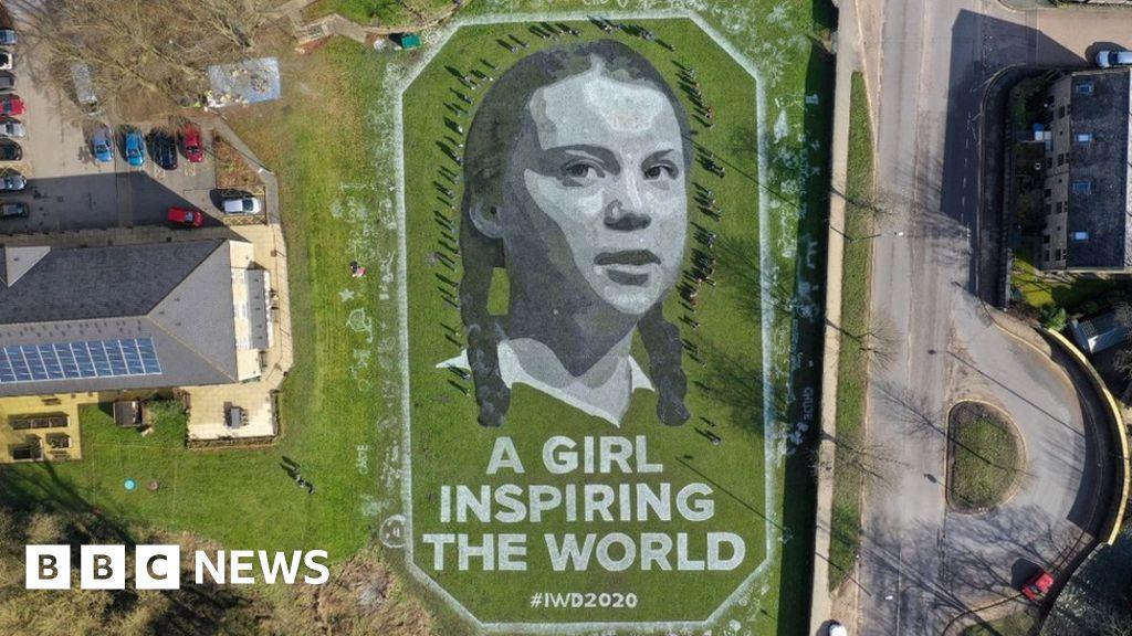 International Women's Day 2020: Giant Greta Thunberg portrait unveiled thumbnail