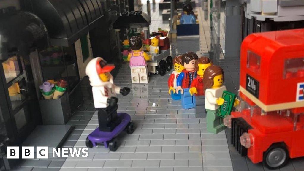 Coronavirus :  Lockdown Lego  Watford High Street made in Canada