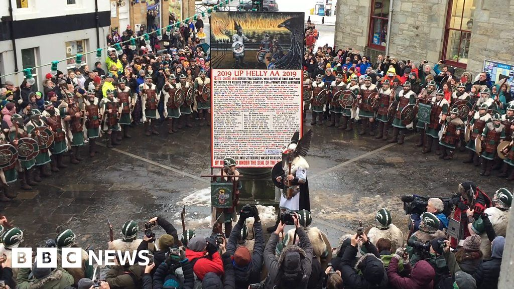 Islanders sing traditional up helly aa song thumbnail