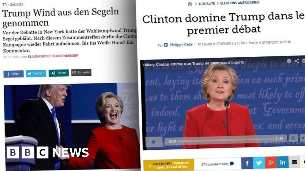 Us Election Debate Who Do World Media Think Emerged The Winner Bbc News