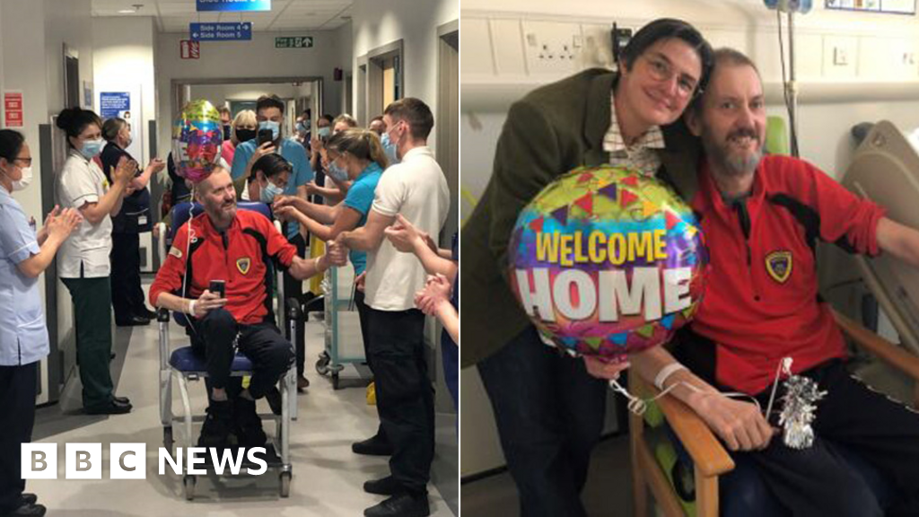 Covid: Shropshire man returns home after 178-days in hospital