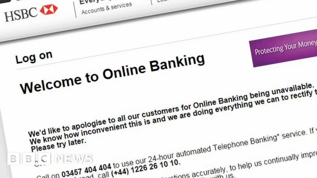 HSBC online banking is 'attacked' - BBC News