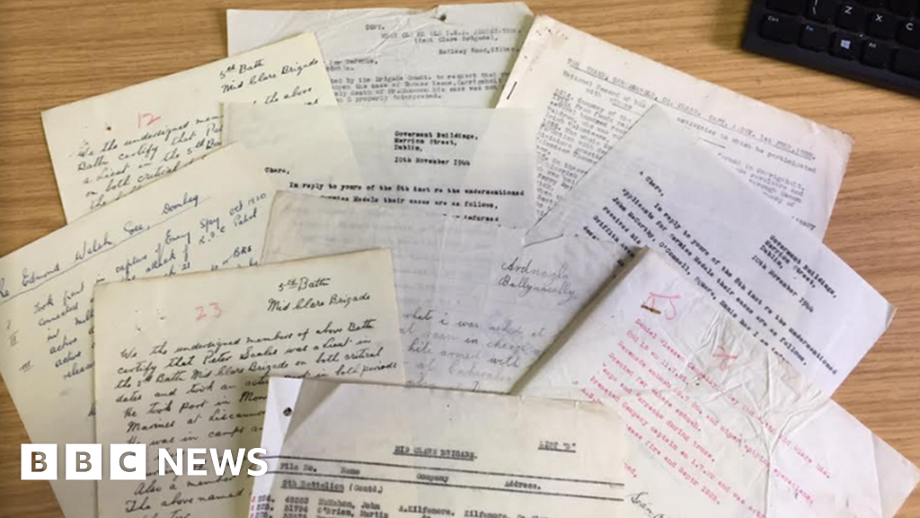 Just some of more than 2,000 documents IRA documents found in the attic