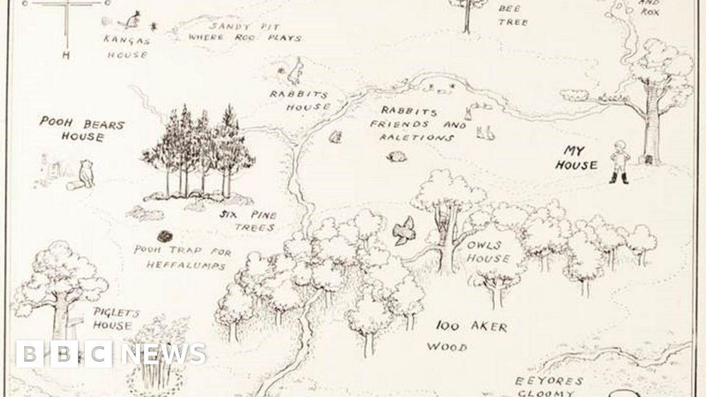 Winnie The Pooh Map Original 1926 Winnie the Pooh map sells for record £430,000   BBC News Winnie The Pooh Map