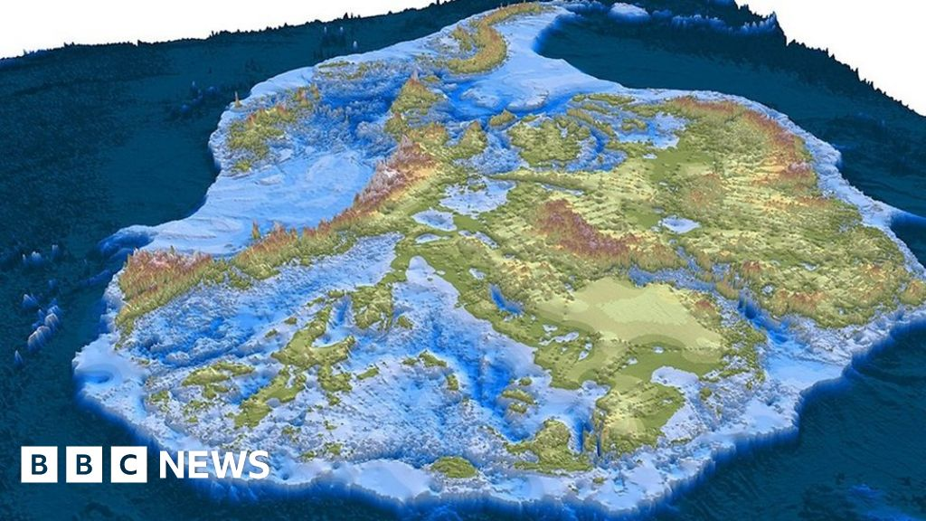antarctica without ice map The Best Map Yet Of Antarctica Without Its Ice Bbc News antarctica without ice map