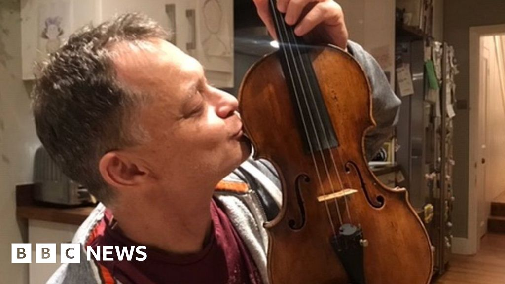 Musician Stephen Morris reunited with £250,000 Tecchler violin