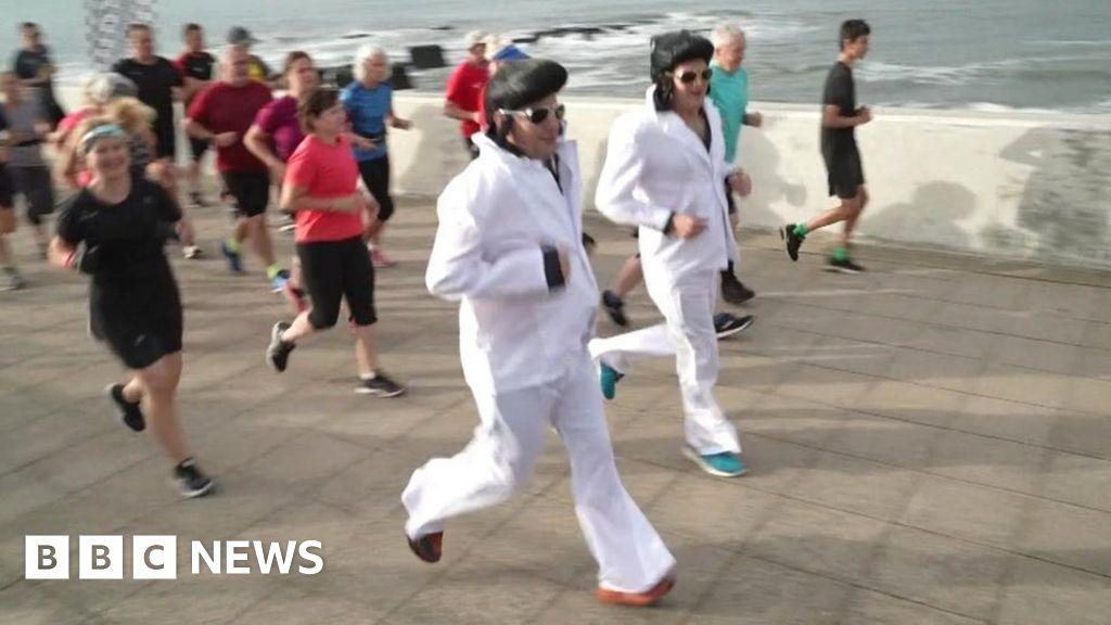 Elvis fans all shook up as run marks Porthcawl festival's return
