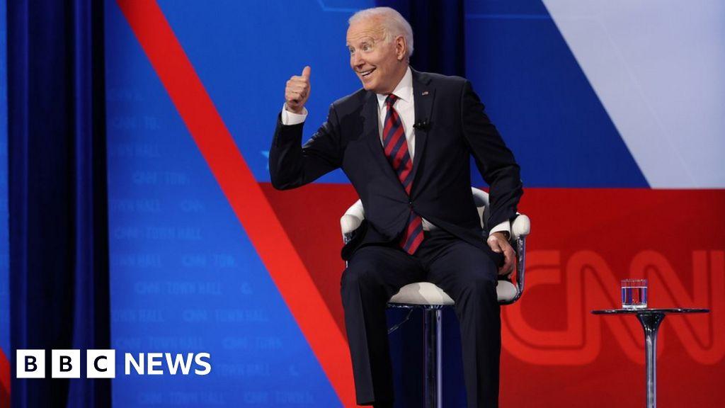 Joe Biden says he's self-conscious as president