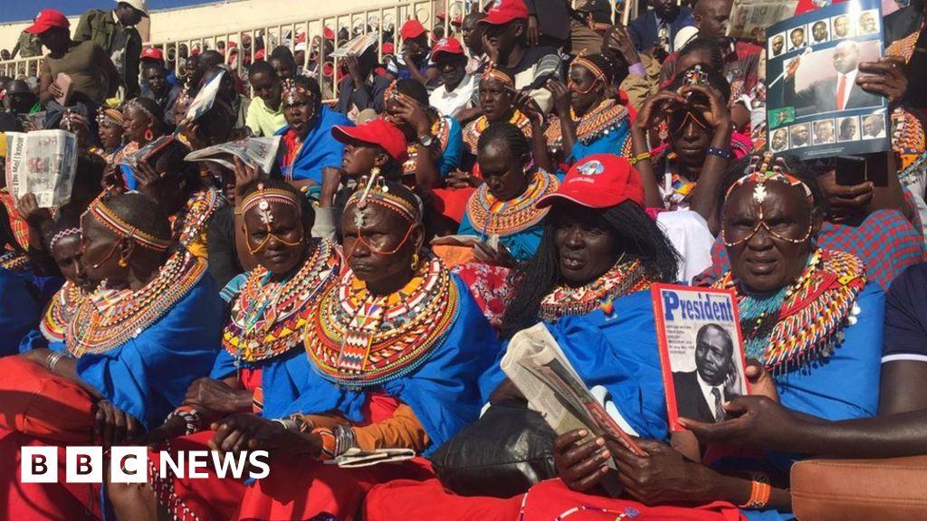 Kenya s Daniel arap Moi: thousands pack stadium for the burial