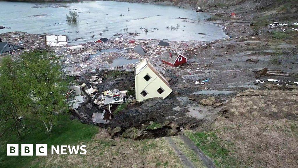 Norway landslide: houses swept away in Alta disaster