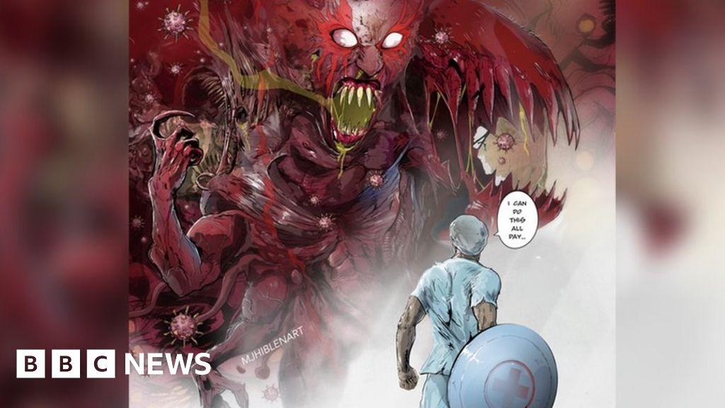 Coronavirus: Norwich comic-book-artists MJ Hiblen draws the NHS  heroes