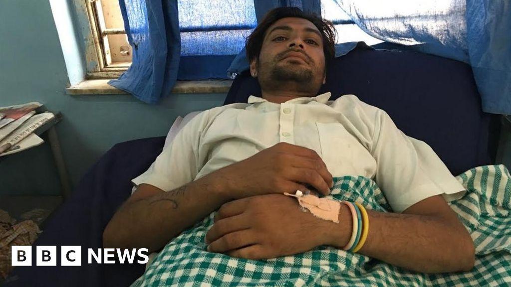 as protest among Gujarat Dalits - BBC News on
