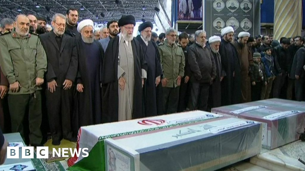 Soleimani: Huge crowds pack Tehran for commander's funeral