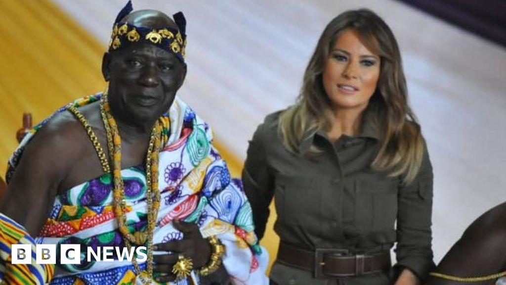 Melania Trump visits Ghana slave fortress thumbnail