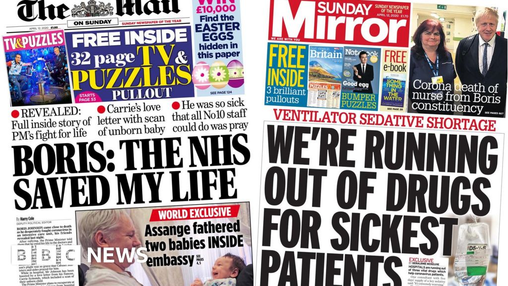 Headlines: PM many thanks to NHS staff after the virus battle, and ICU drug fears