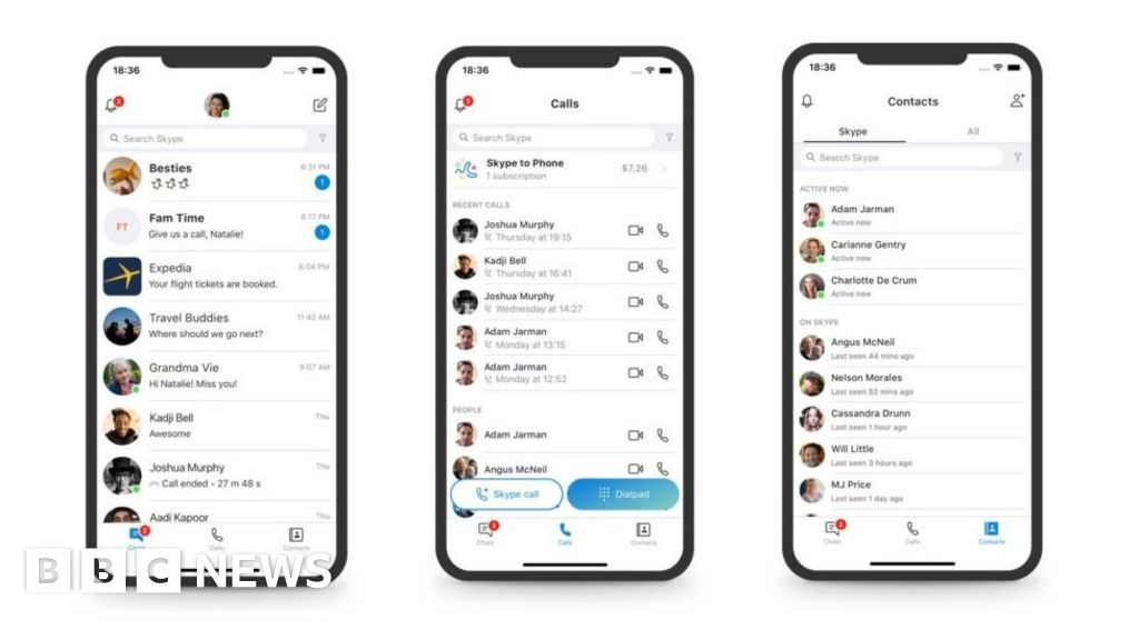 Skype U-turns on Snapchat-like features after complaints - BBC News