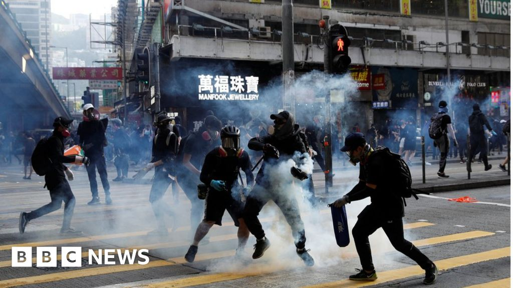 Hong Kong: 'I was tear gassed getting my lunch'