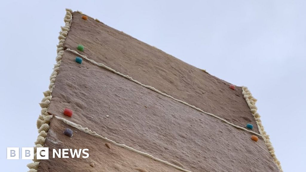 Gingerbread monolith appears in San Francisco's Corona Heights