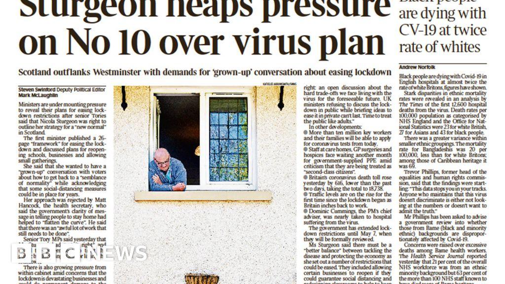 Headlines: pressure on No 10 mass-testing plan unveiled