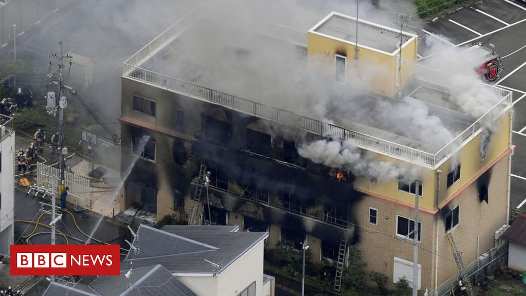 Man charged over Kyoto animation studio fire