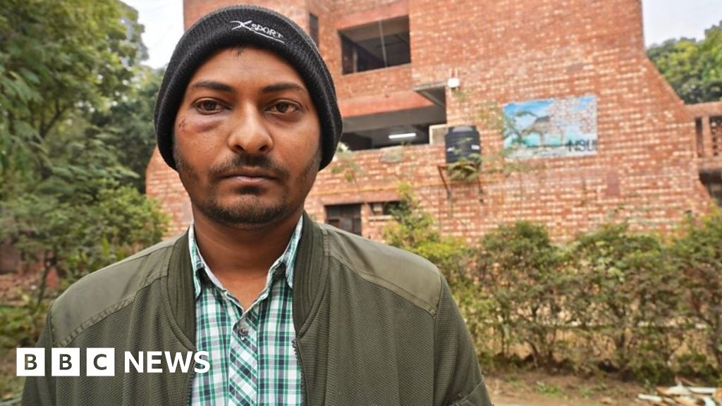 """India university attack: """"students fell to the ground. You kept hitting"""