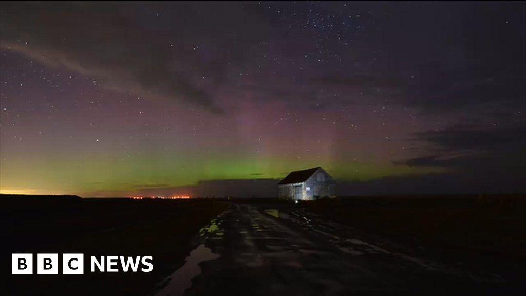 Northern Lights over Norfolk