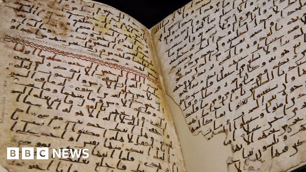 Radio karbon dating Koranen