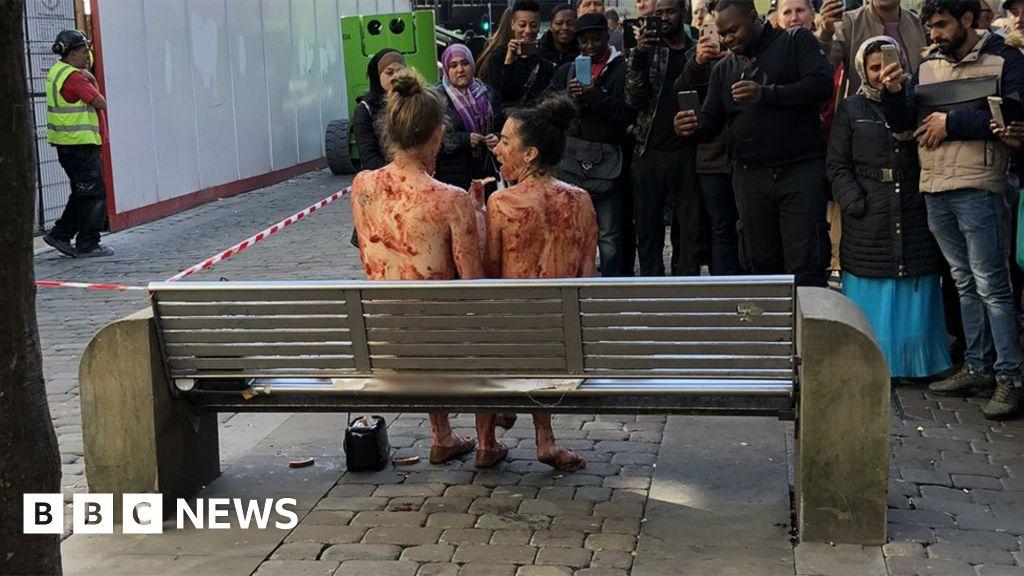 Naked women smeared in jam was 'art'