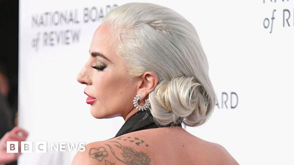 eeb3183f28723 Lady Gaga 'appalled' by music tattoo mistake on her wrist - BBC News