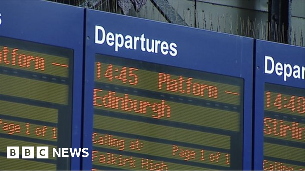 Departures board at Waverley