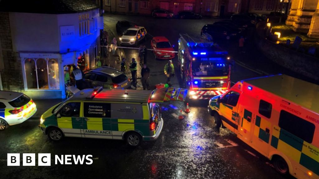 Revellers free women trapped under car in Stamford bar