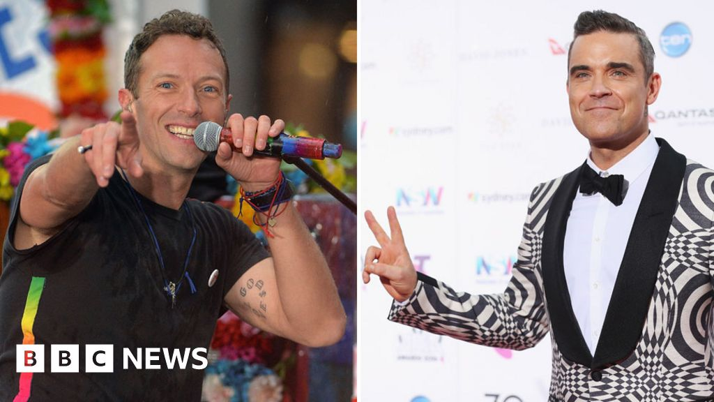 Coldplay beat Robbie Williams to UK number one album