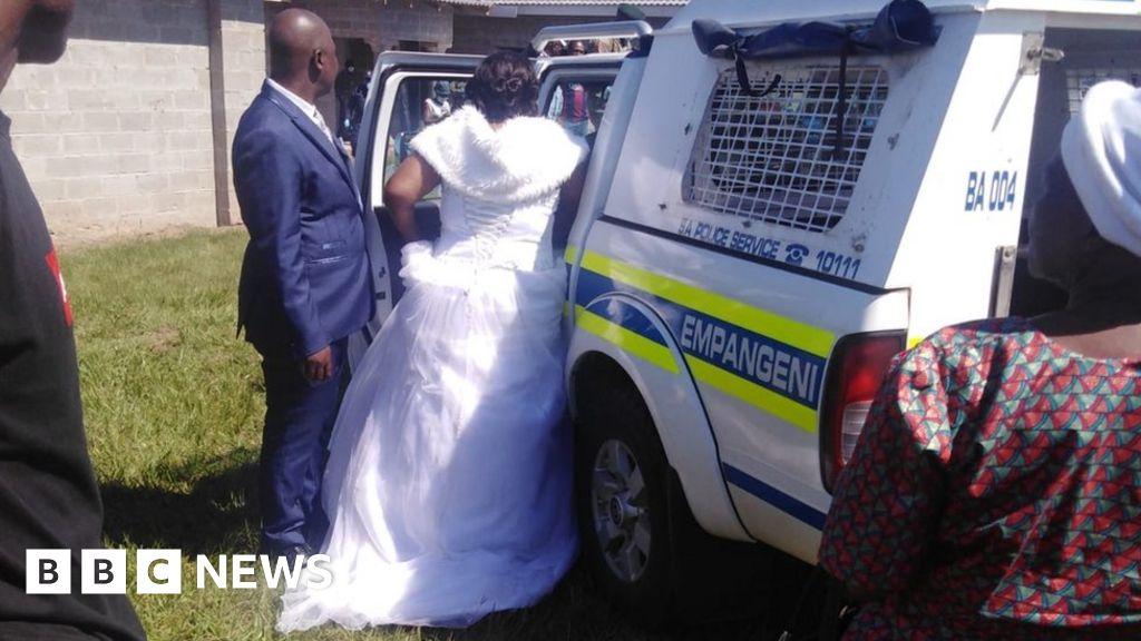Coronavirus: South African bride and groom arrested on lockdown wedding