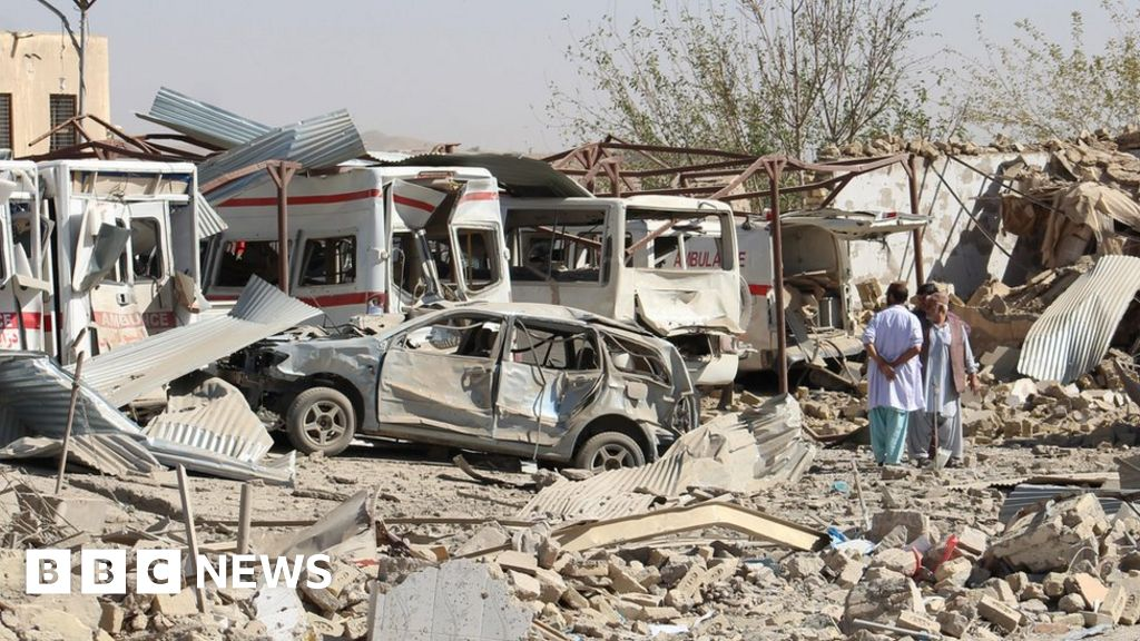 Afghanistan war: Deadly Taliban attack 'destroys' hospital - BBC News image