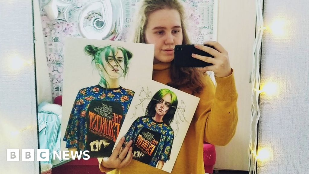 The Teenager Who Drew Billie Eilish For Vogue Bbc News