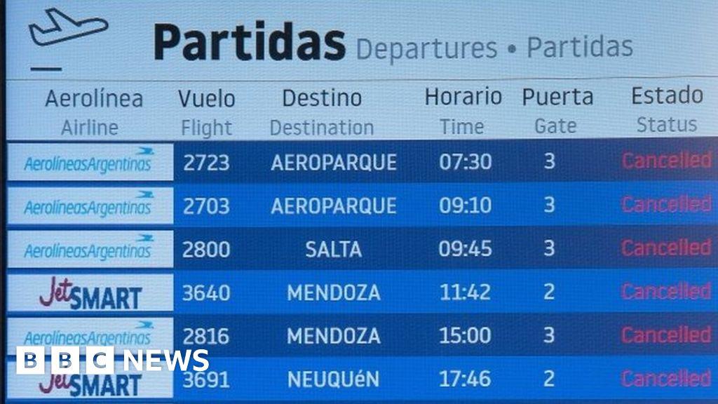Argentina halts all flights until 1 September thumbnail