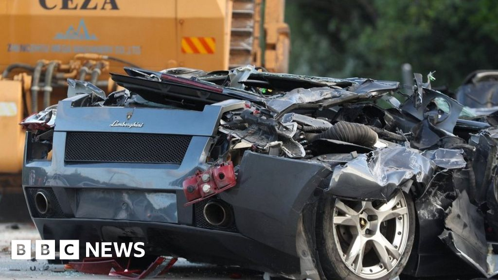 duterte crushes 4m worth of luxury cars in philippines bbc news