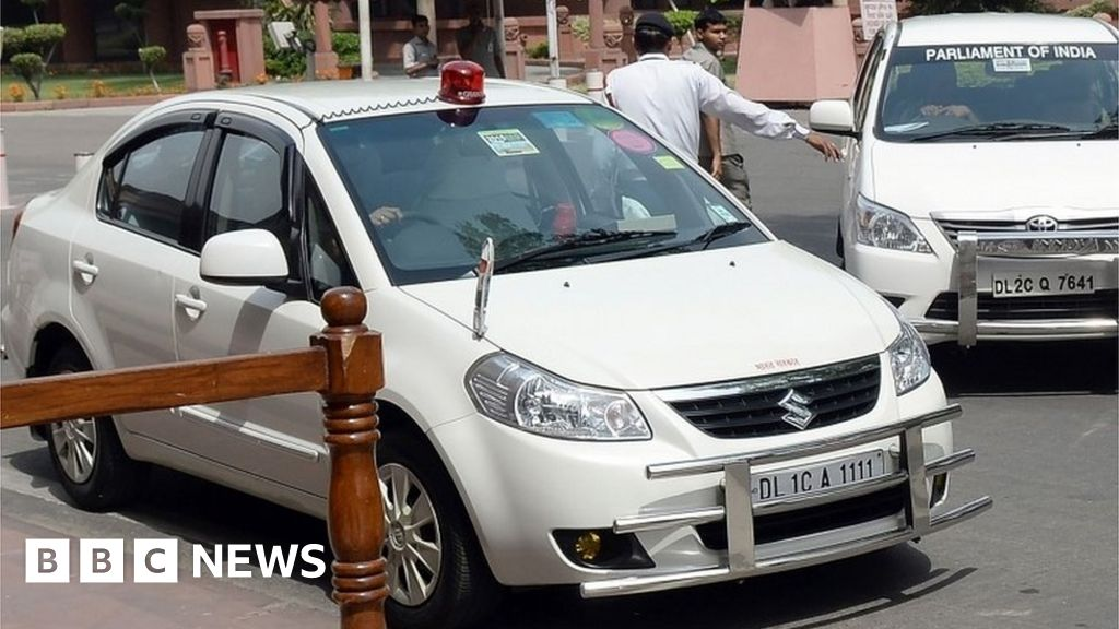 India Bans Use Of Red Beacon Lights On Cars Bbc News