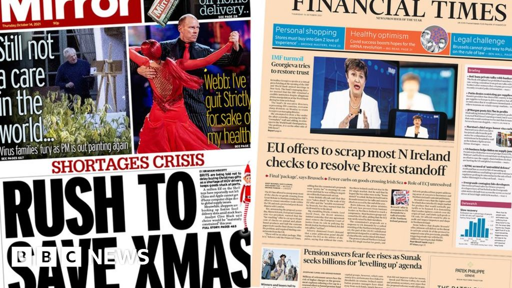 The Papers: Buy Christmas gifts early, and EUs Brexit offer