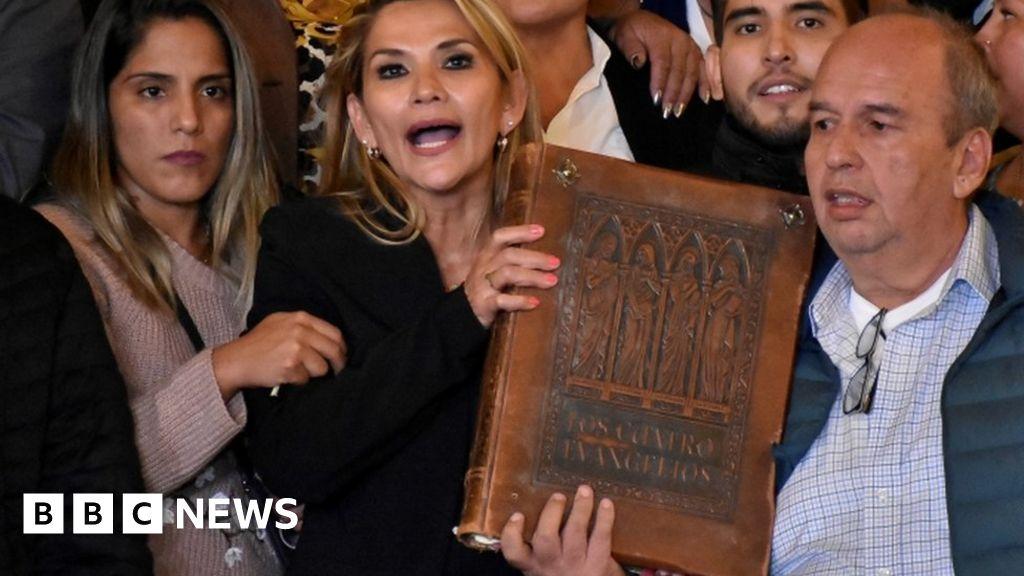 Bolivian senator assumes interim presidency