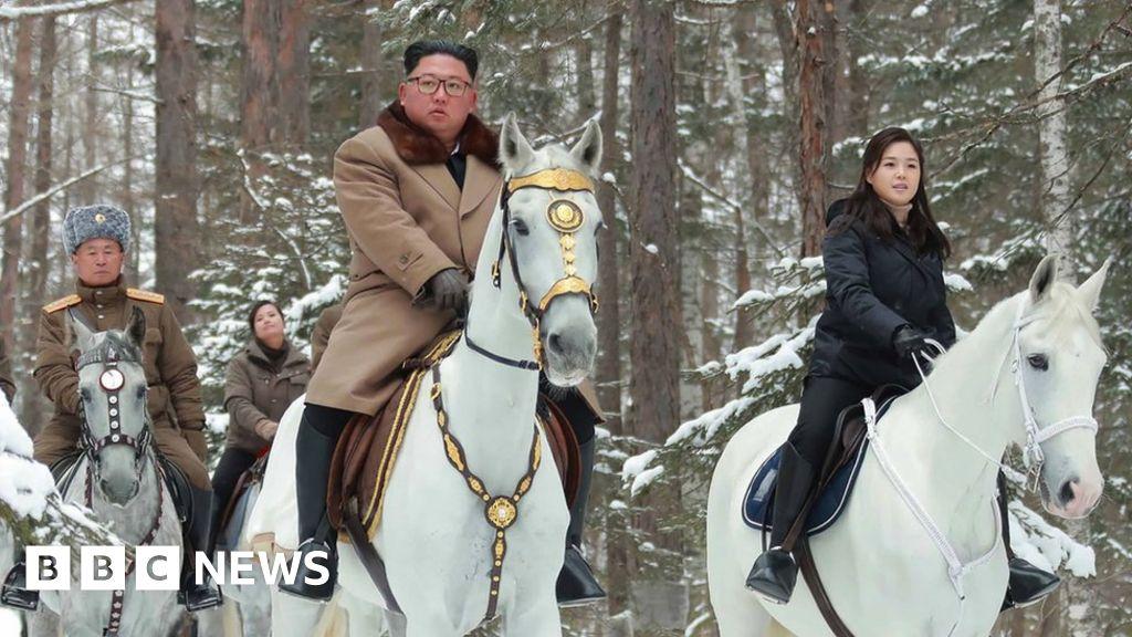 Kim Jong-un: North Korean leader rides up Mount Paektu