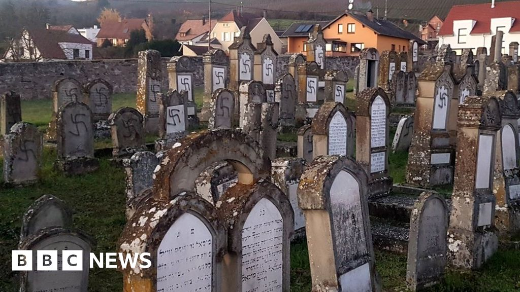 Jewish graves in France defaced with Nazi symbols